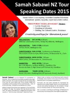 Samah Sabawi NZ dates